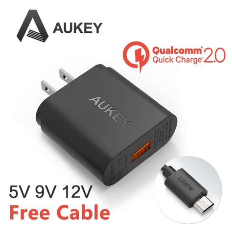 Charger Samsung Fast Charging 2 A qualcomm certified aukey charge 2 0 18w usb turbo wall charger fast charger for samsung