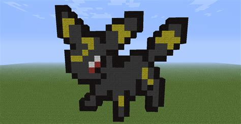 umbreon pixel template umbreon in minecraft by calijor on deviantart