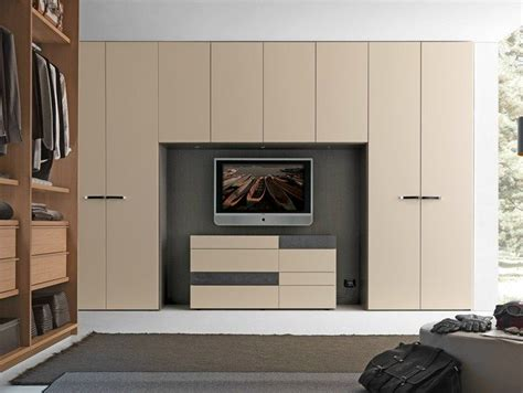 Presotto Industrie Mobili by Sectional Bridge Wardrobe With Built In Tv Liscia