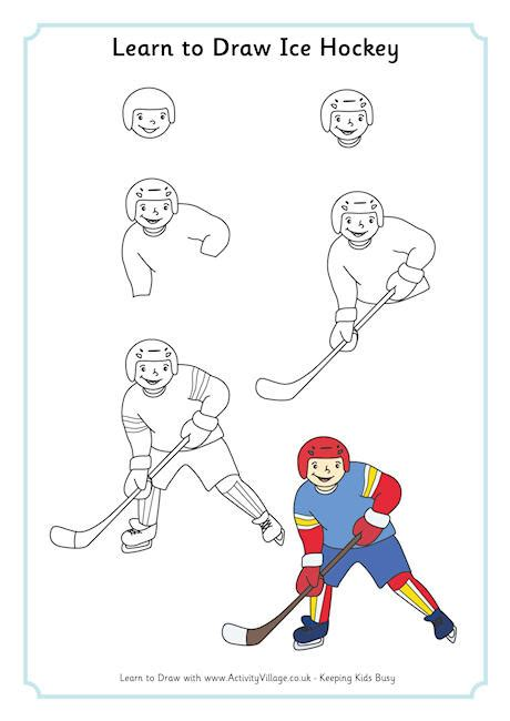 learn to draw learn to draw hockey