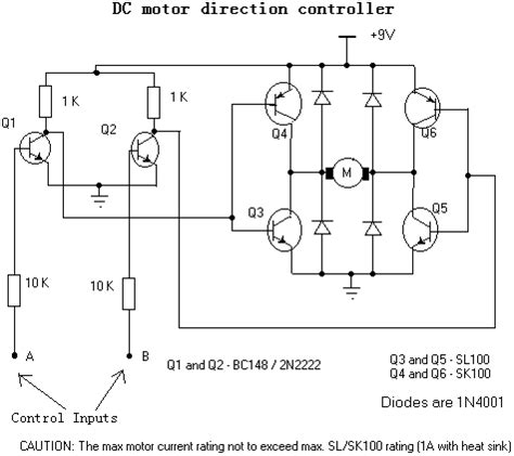 integrated circuits versus discrete components discrete components motor direction controller schematic pre circuit diagram world