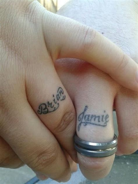 wedding ring name tattoo designs 148 sweet wedding ring tattoos