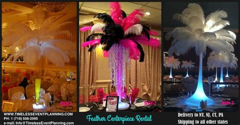timeless themes exles timeless event planning feather centerpiece rental