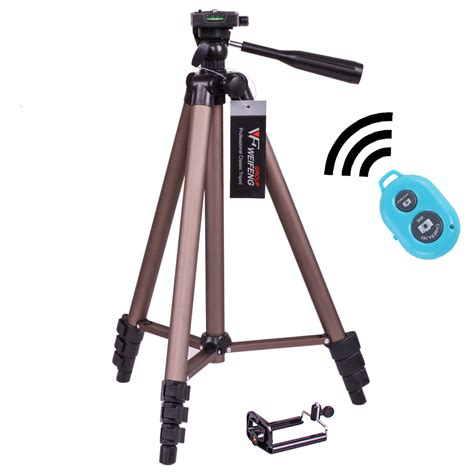 Tripod Weifeng Wt 3130 digitalfoto wt3130a smartphone tripod mobile adapter portable travel dslr tripod with