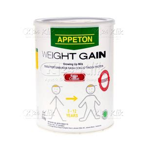 Appeton Weight Gain 250gr jual beli appeton weight gaint anak 900g coklat k24klik