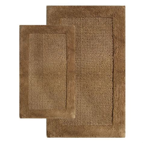 2 piece bathroom rug set 2 piece naples bath rug set in linen uvcm38240