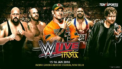 bookmyshow delhi wwe wwe tour of india tickets schedule at bookmyshow