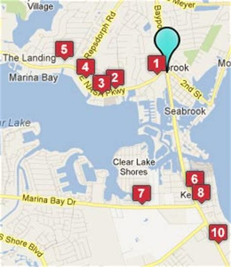 map of seabrook texas seabrook tx hotels motels see all discounts