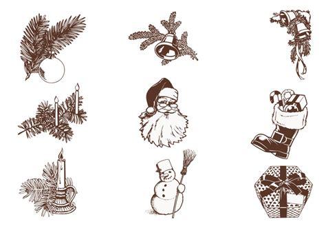 vintage christmas vector pack   vectors clipart graphics vector art