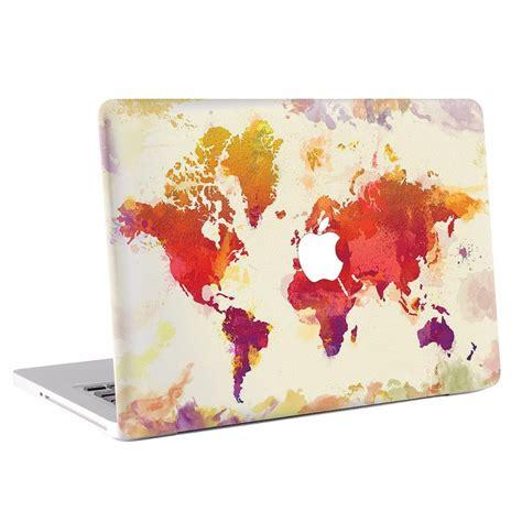 Macbook Aufkleber Weltkarte by Weltkarte Macbook Skin Aufkleber