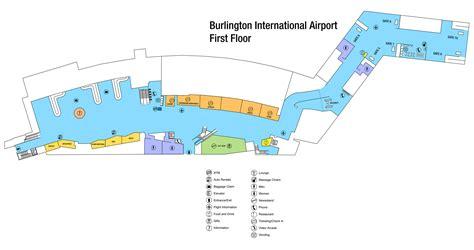 airport terminal map burlington international airport terminal map 1200