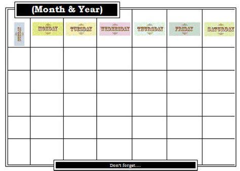 calendar editable template editable calendar template