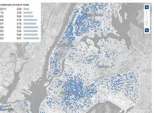 Crime Map Of New York by Visualising And Tracking Homicide Cases In New York City