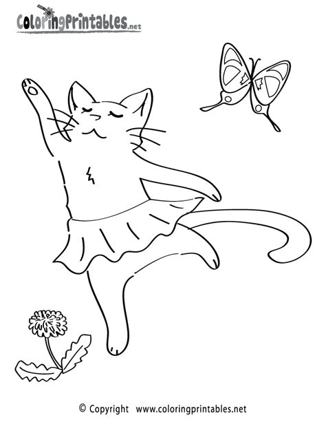 Ballet Cat Coloring Page | ballet class millicent mouse s blog