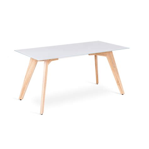Mdf Dining Table Glass And Mdf Dining Table Amos Modern Design
