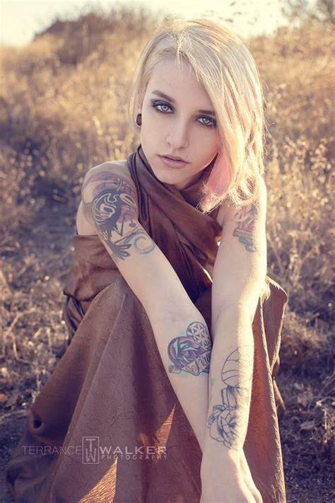 blonde with tattoos with kristie california