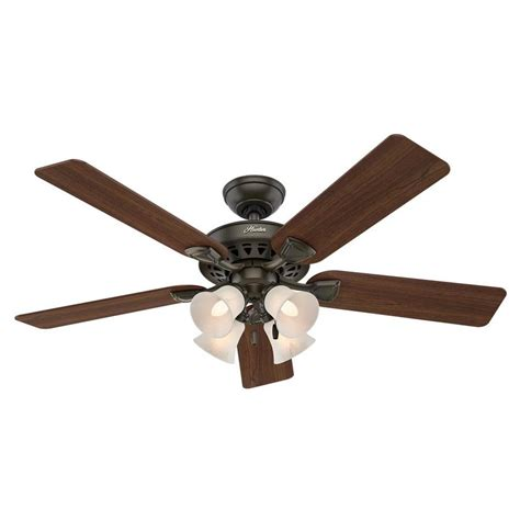 hunter duncan 52 ceiling fan shop hunter westminster 5 minute fan 52 in new bronze