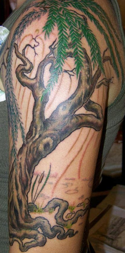 farbiges dschungel baum tattoo tattooimages biz