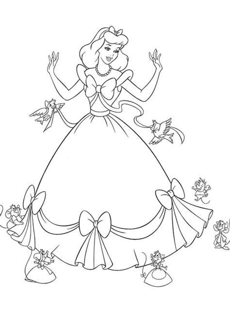 cinderella happy birthday coloring pages 93 princess gown coloring pages disneys elena of