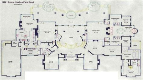 Georgian Home Floor Plans by Mega Mansion Floor Plans Luxury Mansion Floor Plans