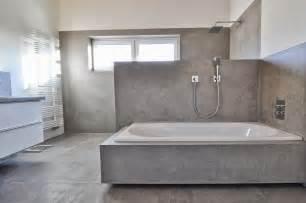 beton cire oberfl 228 chen in beton look modernes beton cire bad