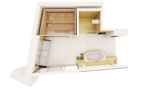 Design Bathroom Floor Plan by Klafs Planungsideen