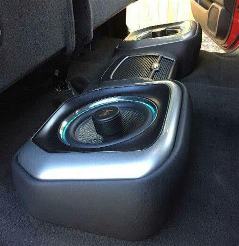 subs truck seat underseat enclosure using illusion audio subwoofers
