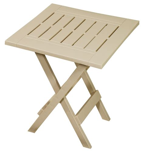 small folding table kmart gracious living folding side table sandstone outdoor