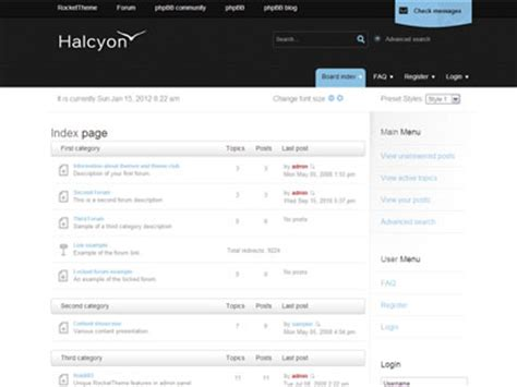 forum template halcyon phpbb3 style template professional phpbb3