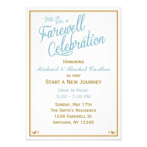 going away invitation template farewell celebration going away invitation zazzle