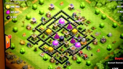 coc defense layout th8 coc th8 best defense layout base 3 youtube