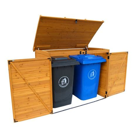 Trash Can Storage Shed by Large Horizontal Trash Can Storage Shed Home Sweet Home