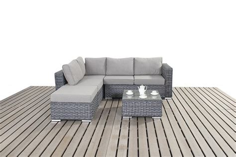 grey rattan corner sofa platinum small grey rattan corner sofa homegenies