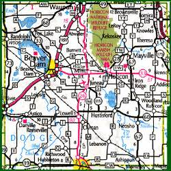 dodge county wisconsin county parks lake maps county maps