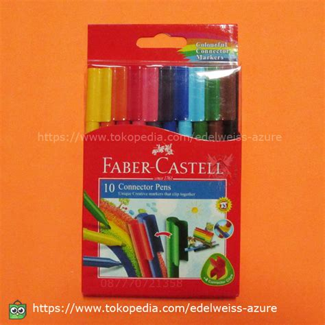 Edjoys Spidol Faber Castell 10 jual spidol connector pen faber castell 10 warna
