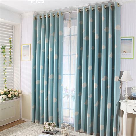 cartoon kids bedroom clouds blue best window curtains kids bedrooms best curtains online in blue color