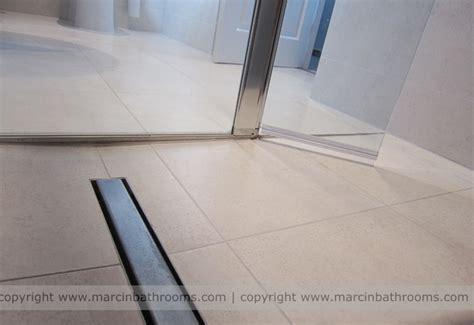 Fall In Shower Floor by Linear Drain In Room D4