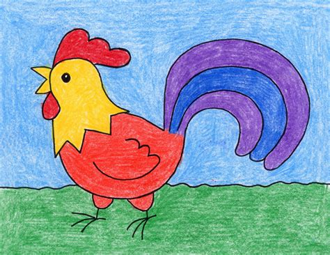 drawing images for kids draw a rooster art projects for kids