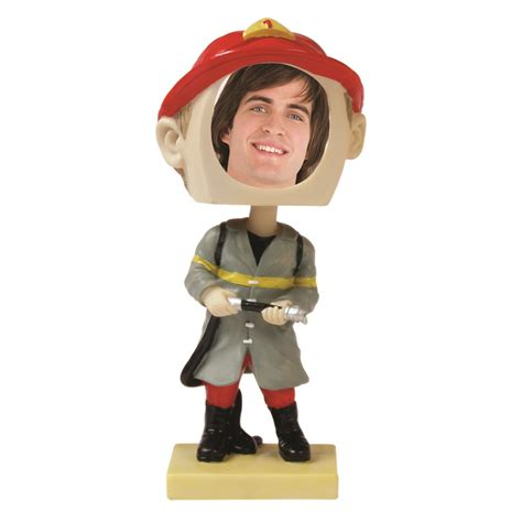 bobblehead picture frame bobbleheads fireman sports photos novelty picture frames