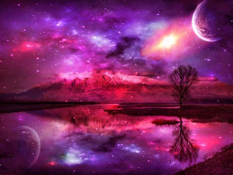 galaxy wallpaper landscape pink fantasy wallpaper high definition high quality