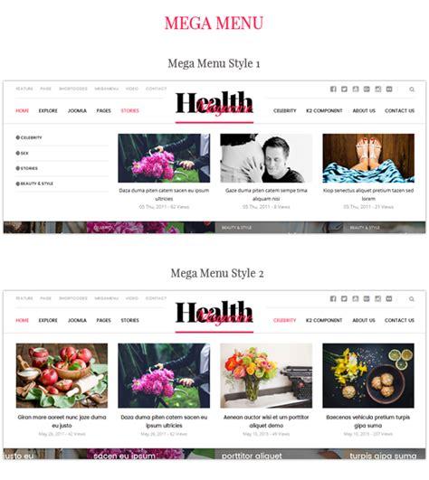 newspaper theme mega menu healthmag multipurpose news magazine joomla template