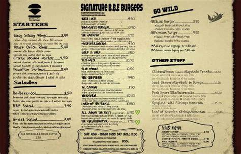 2015 b b e menu picture of best burger the b b e