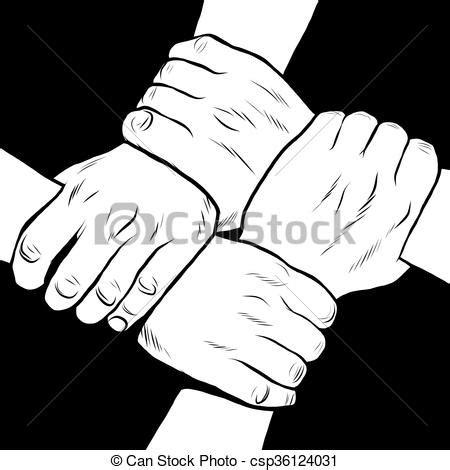 imagenes blanco y negro manos vectores de amistad blanco negro solidaridad manos