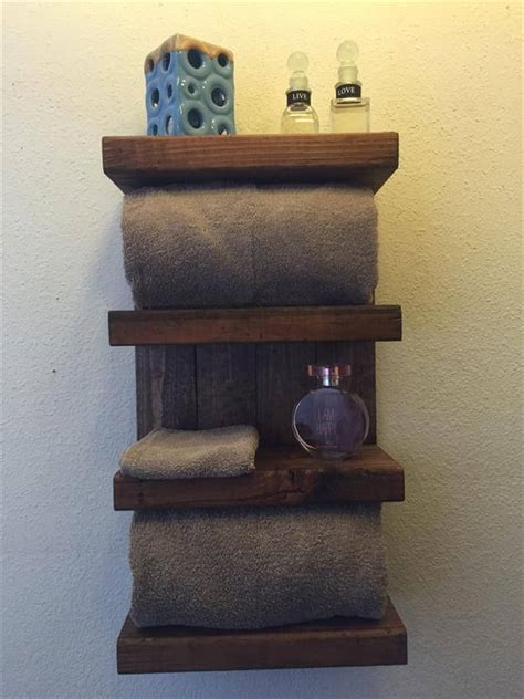 wooden bathroom shelf diy pallet and barn wood bathroom shelf pallet furniture diy