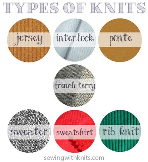 Types of Knit fabrics    Sewing With Knits   A Modern