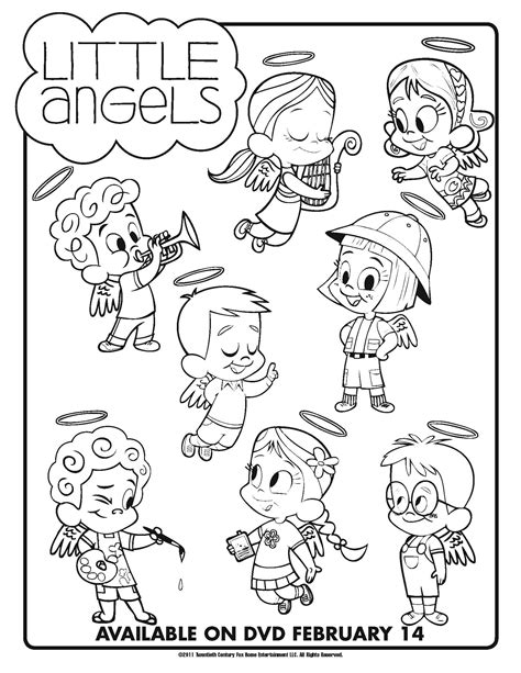 little angels coloring pages little angels arrives on dvd february 14 with printable