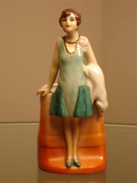 figurines for sale deco porcelain flappers bathing