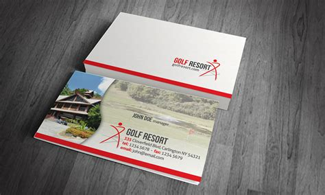 Vacation Card Template by Golf Vacation Resort Business Card Template 187 Free