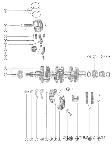 why i section is used in connecting rod crankshaft pistons and connecting rods 1975 mercury