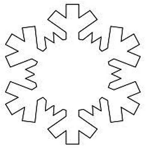 Easy Snowflake Outline by Snowflake Outline Cliparts Co